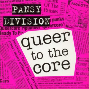 Pansy Division Queer To the Core 45 EP